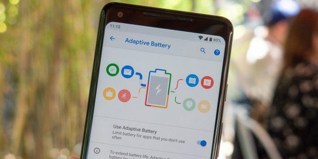 Android P. Экономия заряда батареи