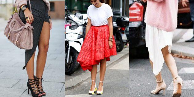 Самые модные юбки 2018 года: Асимметричная юбка