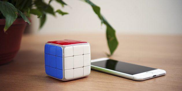 Сбор кубика Рубика. GoCube подключается к смартфону