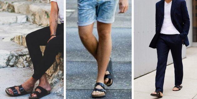 Модная мужская обувь 2018 года: Сандалии без задника