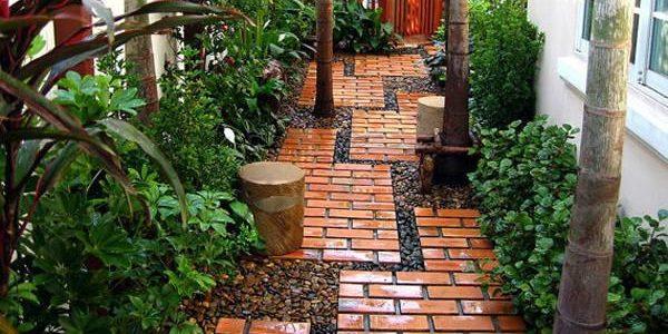 Садовые дорожки из кирпича или брусчатки