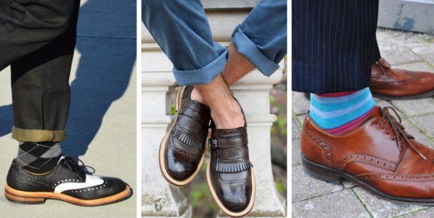 Модная мужская обувь 2018 года: Броги