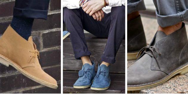 Модная мужская обувь 2018 года: Замшевые чукка-бутс