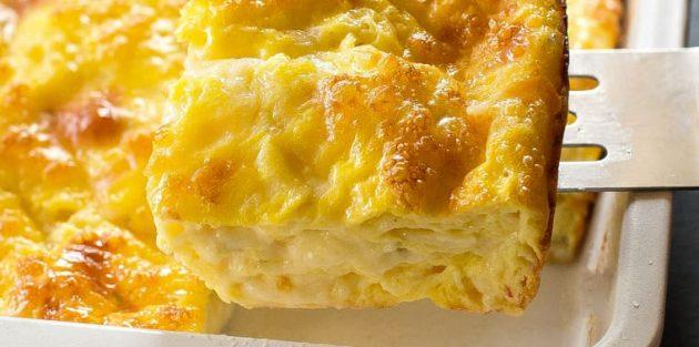 Как приготовить яйца в духовке: Яичная запеканка с творогом и сыром
