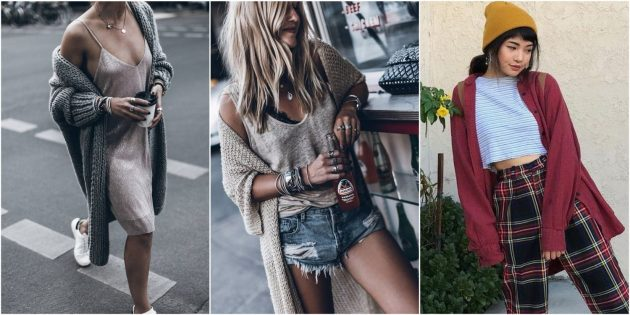 С чем носить кардиган: На контрасте