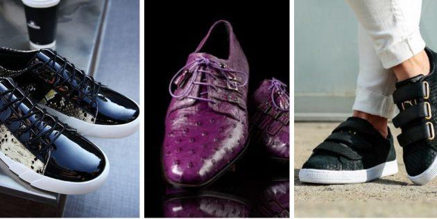 Модная мужская обувь 2018 года: Обувь из экзотической кожи