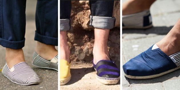 Модная мужская обувь 2018 года: Эспадрильи