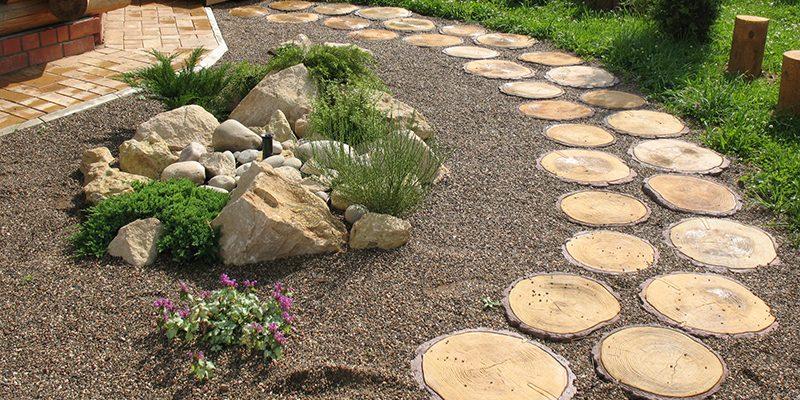 Картинки по запросу Спилы дерева – лучшие материалы для аккуратных садовых дорожек