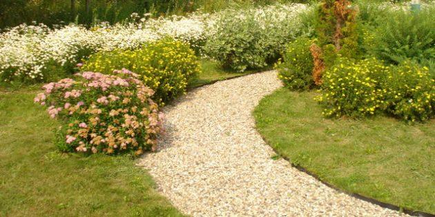 Садовые дорожки из гравия