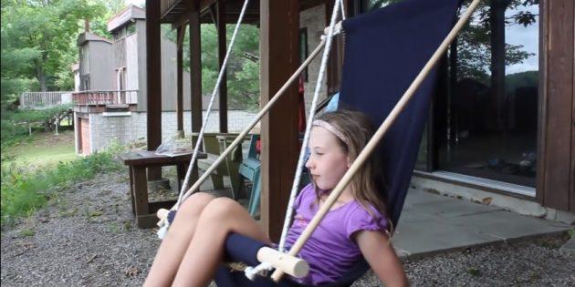 Гамак своими руками: Кресло-гамак из ткани на рейках