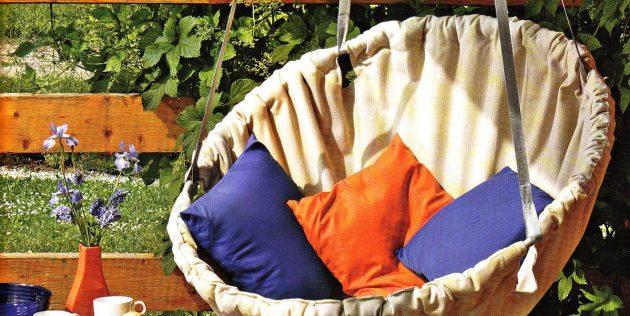 Гамак своими руками: Кресло-гамак из ткани на обруче