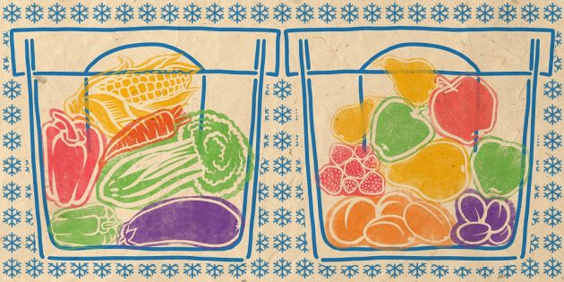 какие овощи замораживают