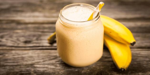 Протеиновые коктейли в домашних условиях: Классический банановый белковый коктейль