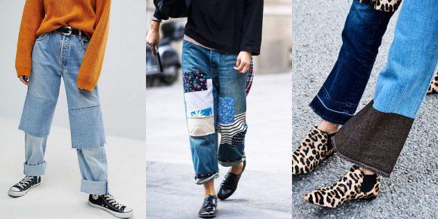 Модные женские джинсы 2018 года: Джинсы-конструкторы