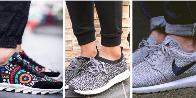 Модная мужская обувь 2018 года: Облегчённые кроссовки из текстиля