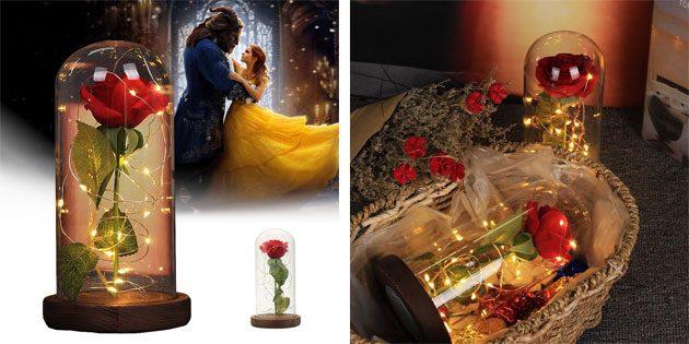 Светильник «Роза под стеклянным куполом»