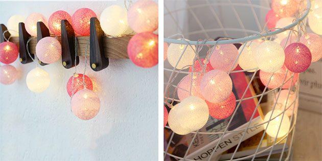 шарики из хлопковых нитей