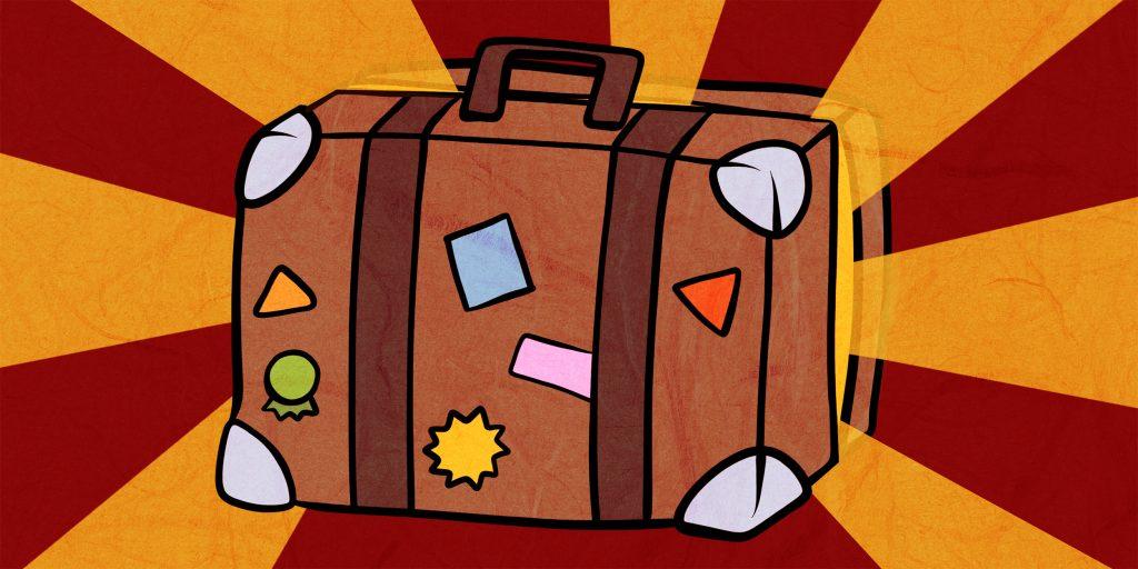 Как сложить костюм в чемодан