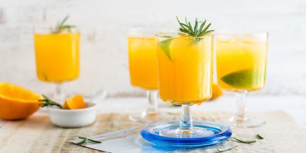 Рецепты соков. Апельсиновый лимонад