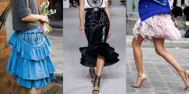 Самые модные юбки 2018 года: Юбки с воланами и оборками
