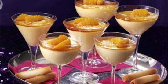 Закуски к вину. Апельсиновый мусс с карамелью