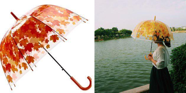 Зонтик с листьями