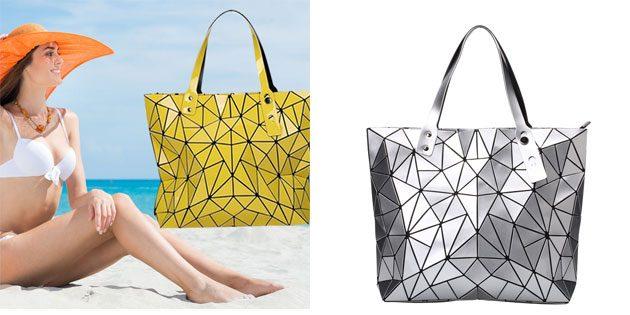 Пляжные сумки с геометрическим узором