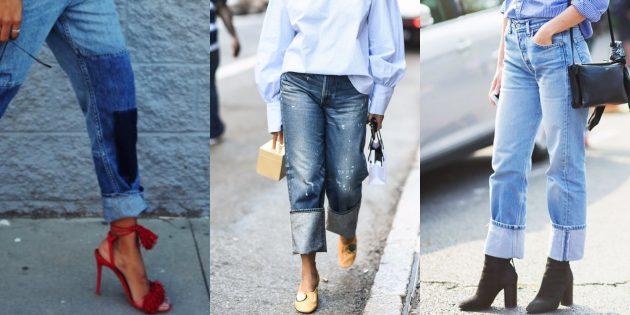 Модные женские джинсы 2018 года: Джинсы с подворотами