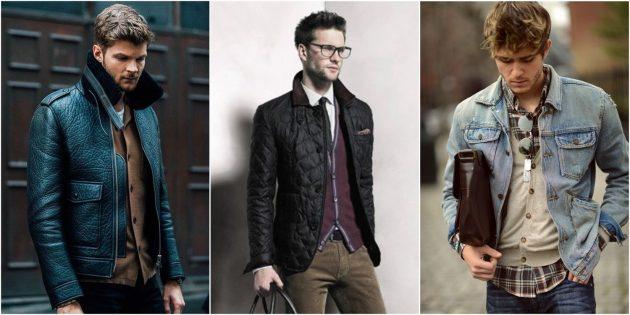 С чем носить кардиган: Под пиджаком, жилетом или курткой
