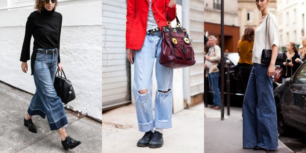 Модные женские джинсы 2018 года: Широкие джинсы