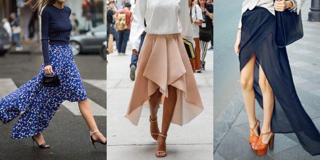 Самые модные юбки 2018 года: Юбки со шлейфом