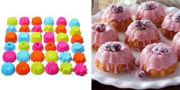 набор форм для узорных кексов