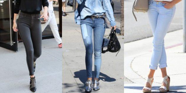 Модные женские джинсы 2018 года: Джинсы-скинни