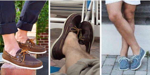 Модная мужская обувь 2018 года: Топсайдеры