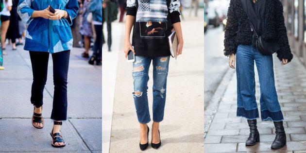Модные женские джинсы 2018 года: Укороченные джинсы