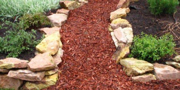 Садовые дорожки из щепок
