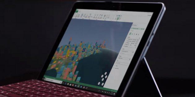 планшет Microsoft. Экран
