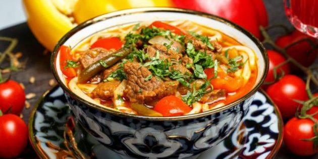 Рецепты: Лагман по-узбекски