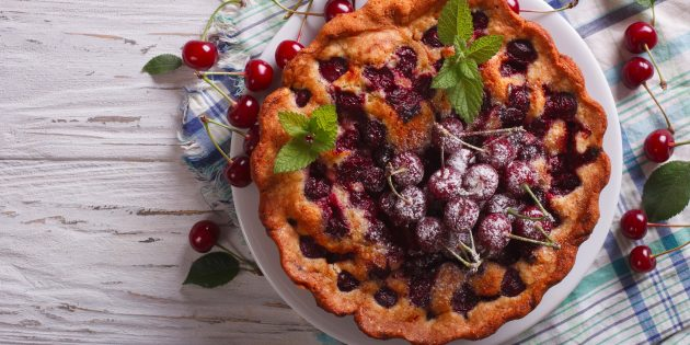 9 вишнёвых пирогов с ярким ароматом и приятной кислинкой