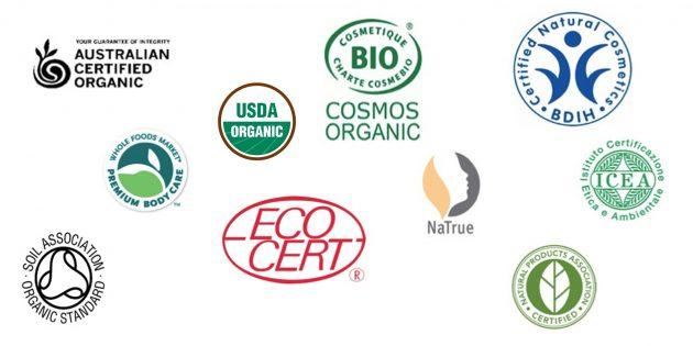 Сертификаты органической косметики
