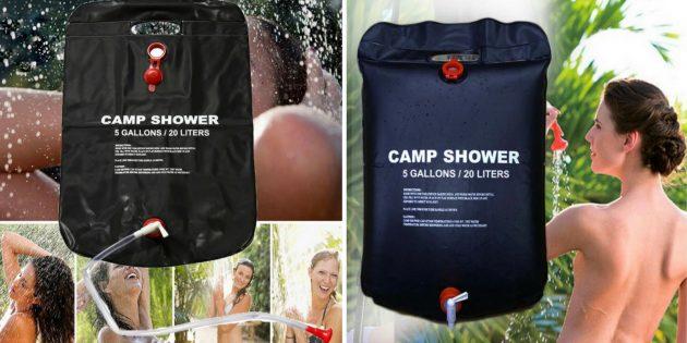Что брать в поход: походный душ
