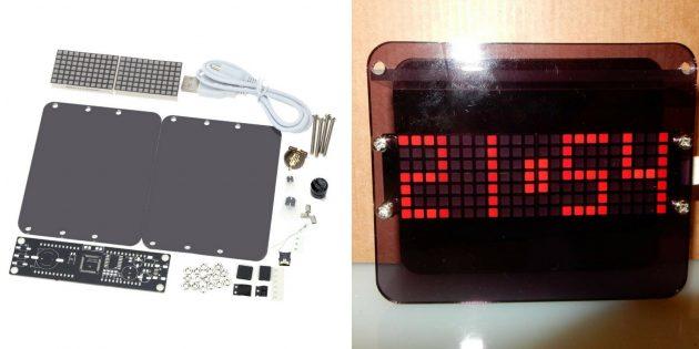 Часы с матричным дисплеем