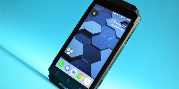 Защищенный смартфон Poptel P9000 Max: Лицевая сторона