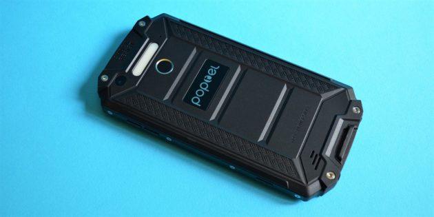 Защищенный смартфон Poptel P9000 Max: Задняя крышка