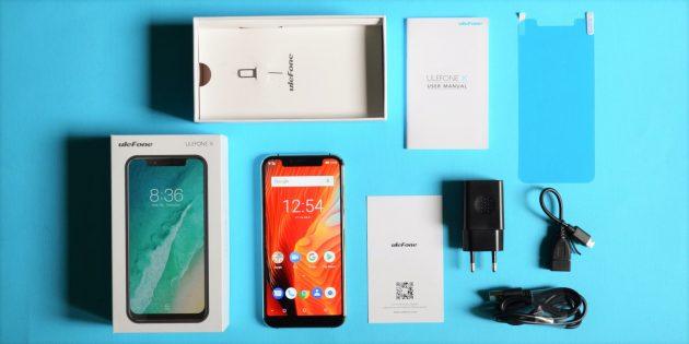 Обзор смартфона Ulefone X: Комплектация