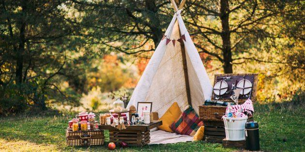Что взять на пикник: место для пикника