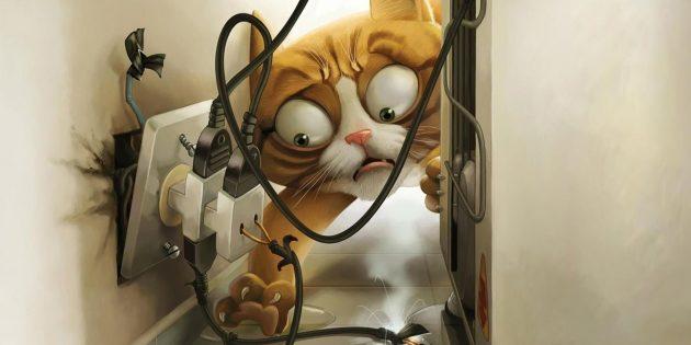 Как защитить провода от зубов домашних животных