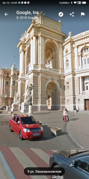 Google Maps. Просмотр круговой панорамы выбранного места