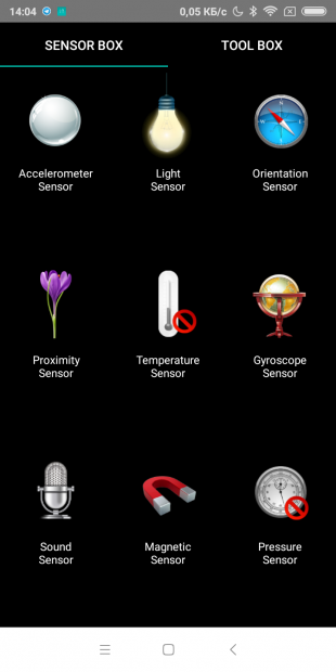 Redmi S2: SensorBox