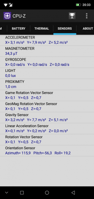 Обзор смартфона Ulefone X: CPU-Z